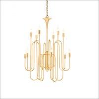 Современная роскошь золота люстра свечки вилла подвесные светильники лобби гостиная лестницы коридор подвесной светильник