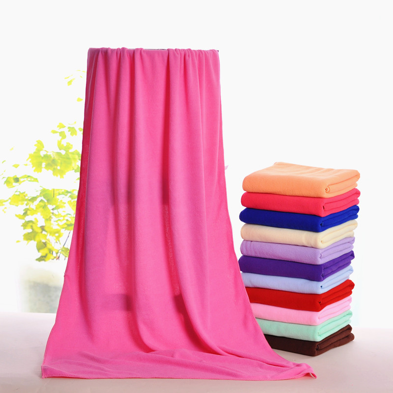 Red Microfiber Bath Towels: WLIARLEO Bath Towel Microfiber 70x140cm Solid Red,Pink