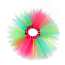 цены на Lovely Children Girl Clothes Baby Girls Colorful Tulle Tutu Skirt Cute Toddler Infant Mesh Skirts Party Dance Fluffy Pettiskirt  в интернет-магазинах