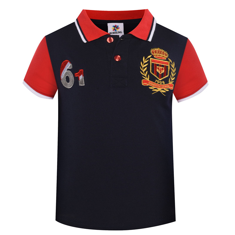 Kids Boys Polo Shirt 2018 Summer New Letter Embroidery Short Sleeve