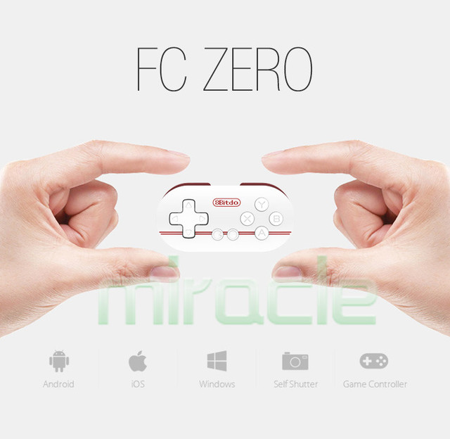 Nueva original Mini 8 8bitdo FC Cero Más Pequeño Controlador de Juego consolas de Obturación Bluetooth iOS/Android/Windows/Mac OS envío gratis