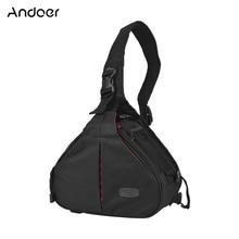 лучшая цена Andoer K1 Triangle DSLR Camera Bag Cross Sling Carry Case Shockproof Waterproof with Tripod Holder for Canon Nikon Sony