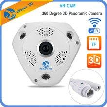 Hsmart HD 1280*960 360 градусов рыбий глаз панорамный Камера Беспроводной 3D VR панорама HD IP Камера P2P indoor Cam безопасности Wi-Fi Камера