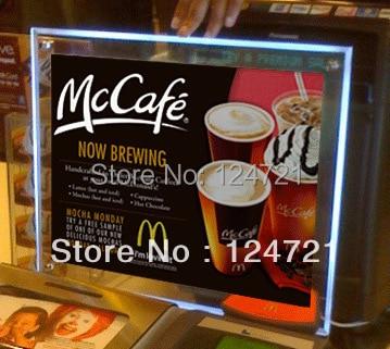 Restaurant illuminated menu light box advertising sign box ,Acrylic led light box a3 size frames