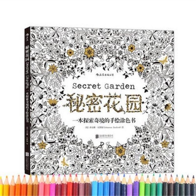 Libro Para Colorear Jardín Secreto Para Adultos Niño Adulto