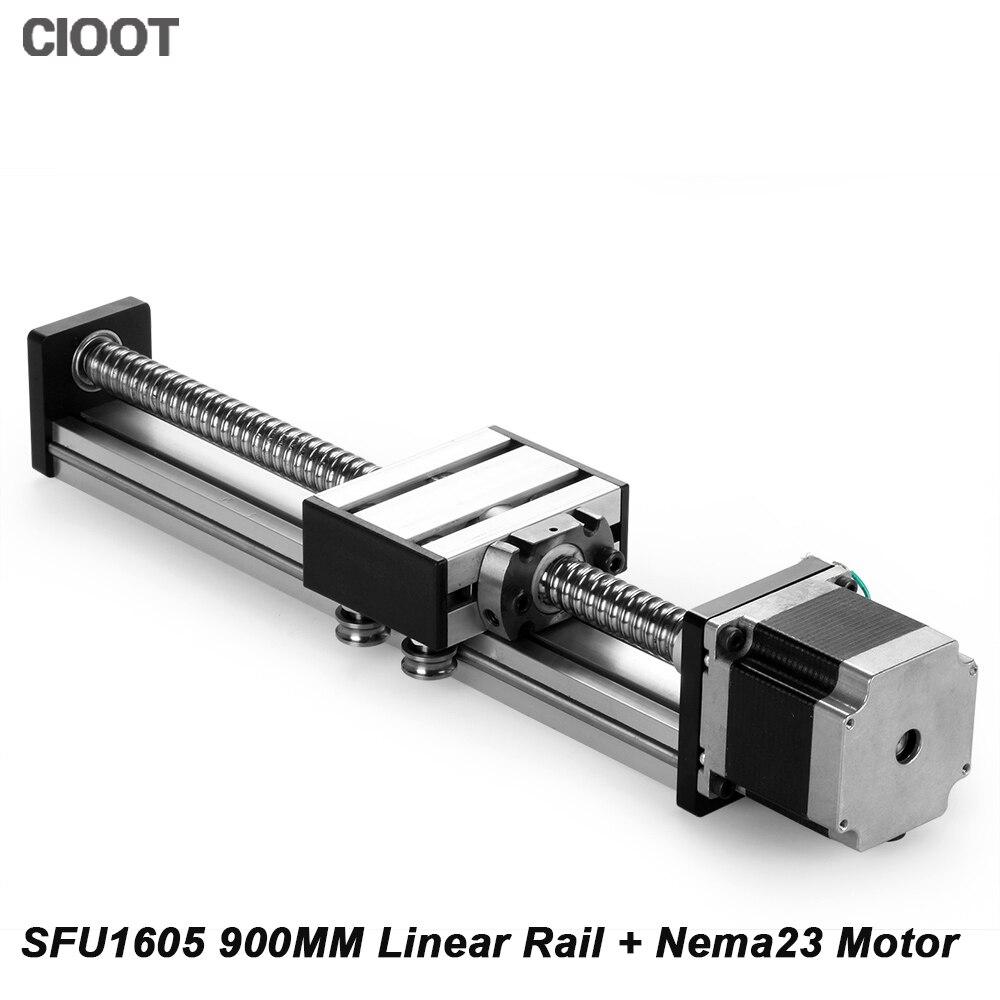 Cnc Linear Rail 900mm Linear Guide Slide Nema23 Motor