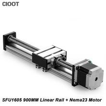 Cnc линейный рельс 900 мм линейный Руководство Презентация + Nema23 двигателя SFU1605 ballscrew Линейное движение стол для фрезерные машины