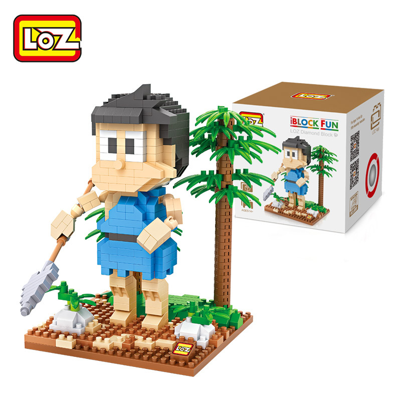 LOZ Doraemon Honekawa Suneo Building Blocks Action Figure Bricks Educational Kids Gift Toys brinquedos educativo juguetes menino