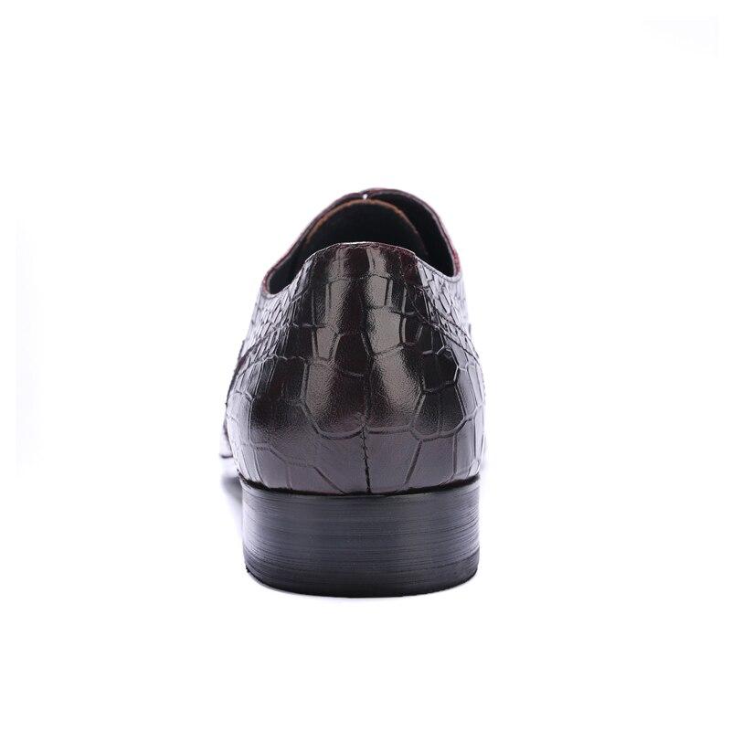 Pontas Brogue Luxo Jacaré Sapatos Do marrom Js61 Homem Dos Preto Casamento Dedo Homens Esculpidas De Vestido Couro Genuíno Pé Festa Formal Oxfords Artesanal ZwxnXzx