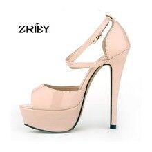 แฟชั่นรองเท้าผู้หญิงปั๊มพรรคเจ้าสาวแพลตฟอร์มสายรัดข้อเท้ารองเท้าส้นสูงP Eep Toeรองเท้าสายรัดสหรัฐ4-11 13สี