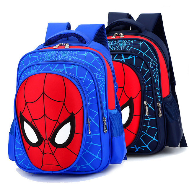 Primary Children Spiderman School Bags 2016 Kids Cartoon Backpack Boys Girls Student Waterproof Schoolbags Mochila Infantil