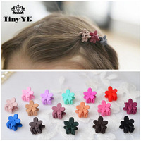 5 Pcs Mix Color New Acrylic Flower Hair Claws Baby Girls Hair Gripper Kids Hair Accessories
