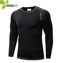 WOLFBIKE Men Women Fleece Cycling Bike Bicycle Jerseys Under Wear Sport Fitness Clothes Top Shirt Long Sleeve Undershirt
