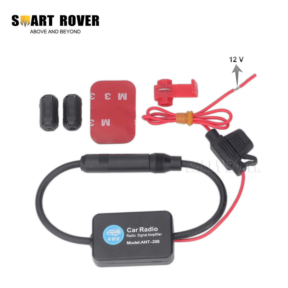 Universal automobile radio car aerial antenna 12v auto radio signal amplifier auto fm am antenna
