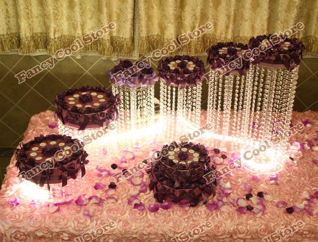 Wedding crystal cake stand/wedding decoration party prop wedding centerpiece 6pcs/lot Wedding crystal cake display