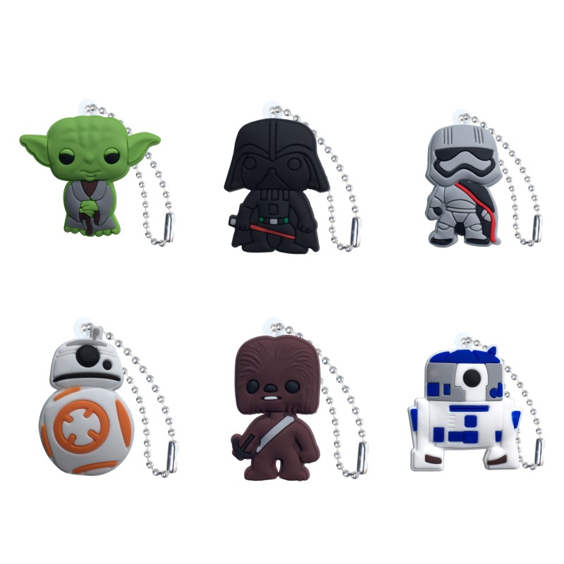 20pcs Star Wars Keychain Cartoon Anime Charm Ball Chain Superheroes Key Ring Cool Trinkets Key Chain Kids Birthday Gift