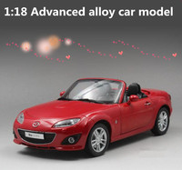 High simulation 1:18 advanced alloy car model,MAZDA MX 5,diecast metal model collection toy vehicles, free shipping