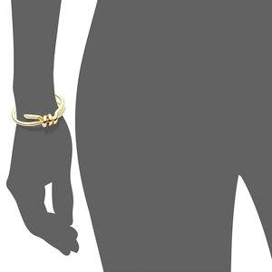 Image 5 - Varoleエレガントなノットカフブレスレットゴールドカラー女性バングルジュエリー卸売pulseirasため