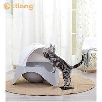 Пространство склад кошачьих туалетов Pet тематические товары про рептилий и земноводных закрытым Cat Туалет пластик бассейна обучение Туалет