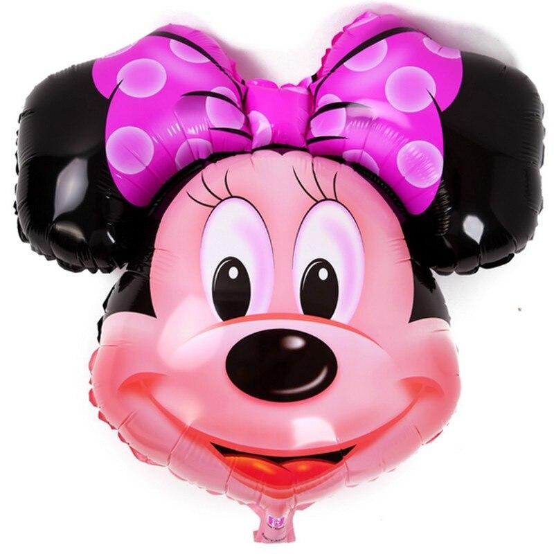 BINGTIAN 10pcs 82* 69CM aluminum balloons Minnie Mickey head balloon Cartoon Birthday Party Wedding decorations childrens toys