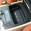 Luhuezu Non-Slip Mat In Central Armrest Container Holder Stowing Box For Toyota Land Cruiser 200 LC200 Accessories 2008-2018