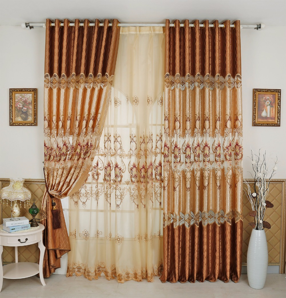 Fyfuyoufy Hot Sale Luxury European Style Jacquard Curtain