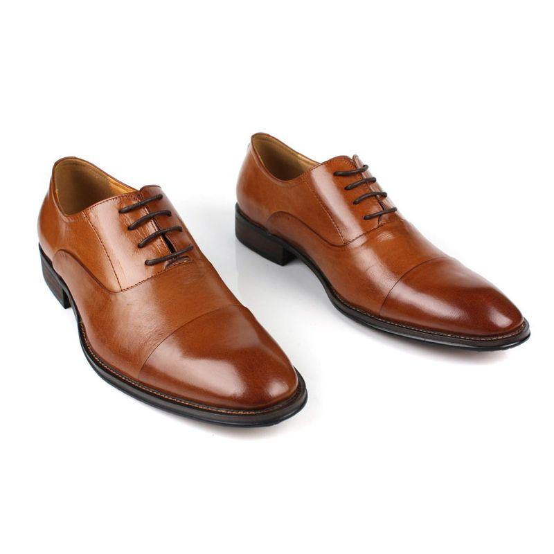 Itália Homens do Projeto Do Vestido de Casamento Sapatos de Couro Genuíno Homem Calçado Clássico Apontou Toe Sapatos de Negócios Formais New Oxford Chaussure - 4