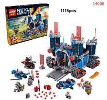 Future Nexo Knight LEPING 14006 1115 pcs Castle Warrior Battle Building Blocks Set minis Compatible with Leping 70317