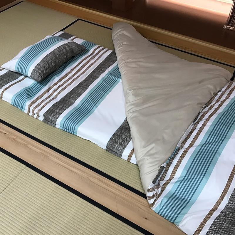 6 шт./компл. футон мебель традиционный японский пол футон комфортная постель queen размеры 150*210 см зима одеяло японский футон комплект