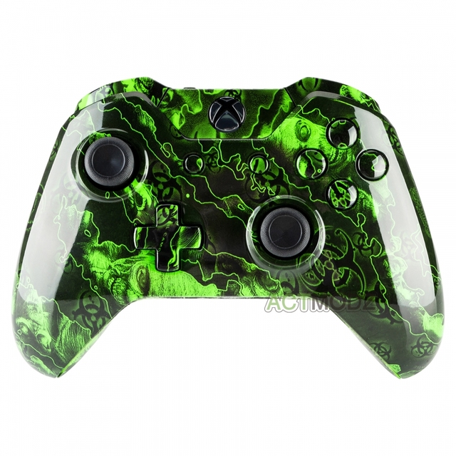 US $14 99 |Full Housing Shell Button for Xbox One Controller W/3 5 mm Jack  Green Zombies-in Cases from Consumer Electronics on Aliexpress com |