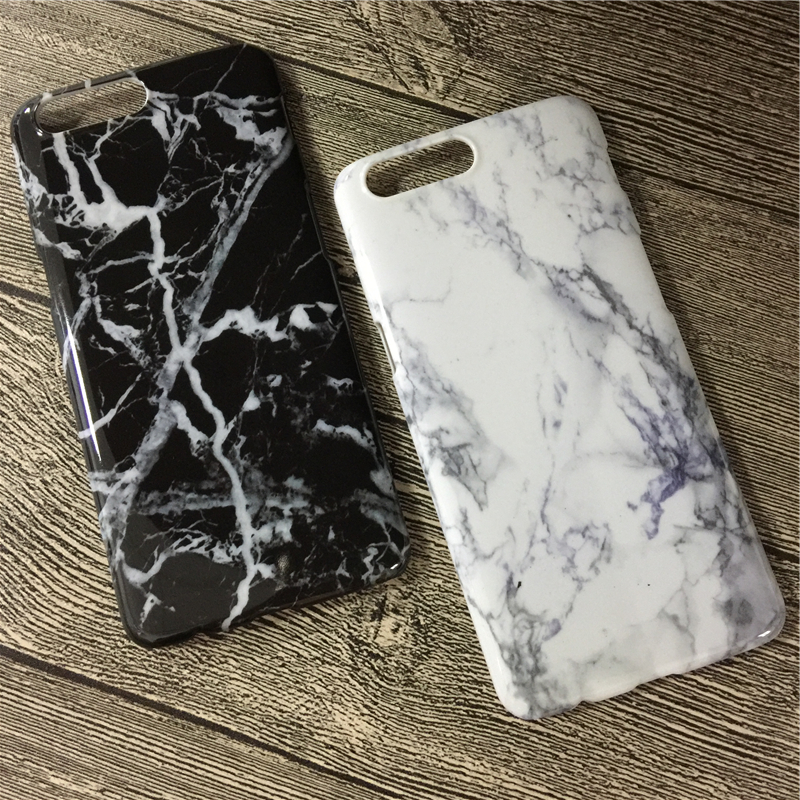 Marble Pattern Hard PC Case for oneplus 5 Case Classic Black White Granite Stone Cover Phone Cases for one plus 5