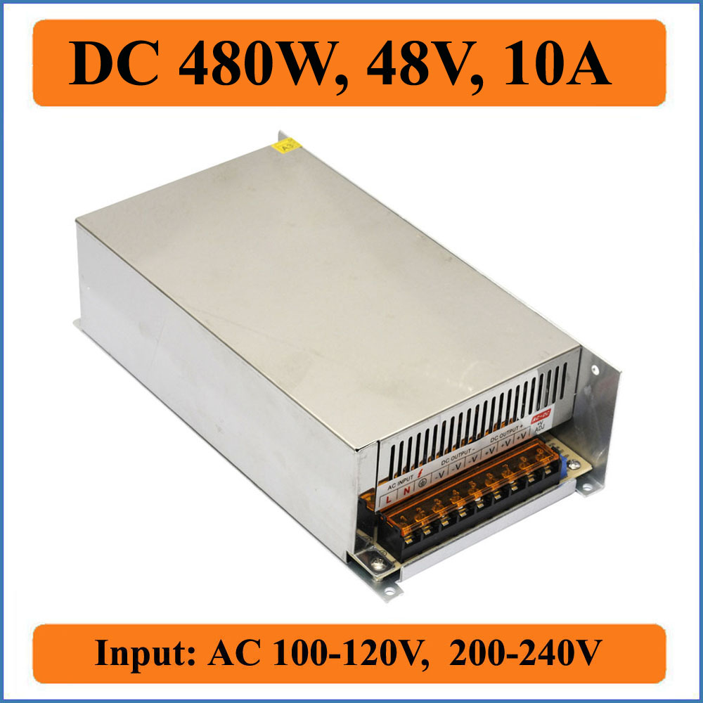 480W 48V 10A Switching Power Supply Voltage AC100-240V Input Transformer to DC 48V Output equipment for LED driver Strip lights best quality 12v 15a 180w switching power supply driver for led strip ac 100 240v input to dc 12v