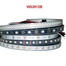 new led 5V 5M WS2812B Strip 30/60 pixels/leds/m Address Smart Black/White PCB WS2812 IC LED Light IP30 IP65 IP67