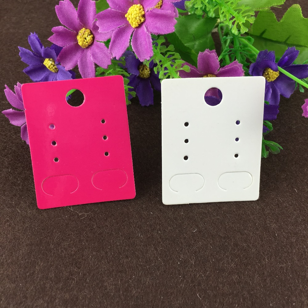 200pcs/lot Earring Card Hot Blank Earring Cards Kraft Paper Display Cards Accept Custom Jewelry Cards Orders Need Add Extra Cost