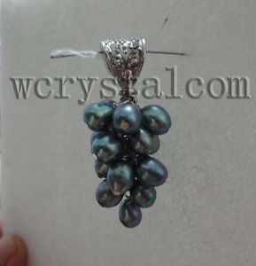 Black Cultured Pearls Pendant Sterling Silver Bale pendants for jewelry making