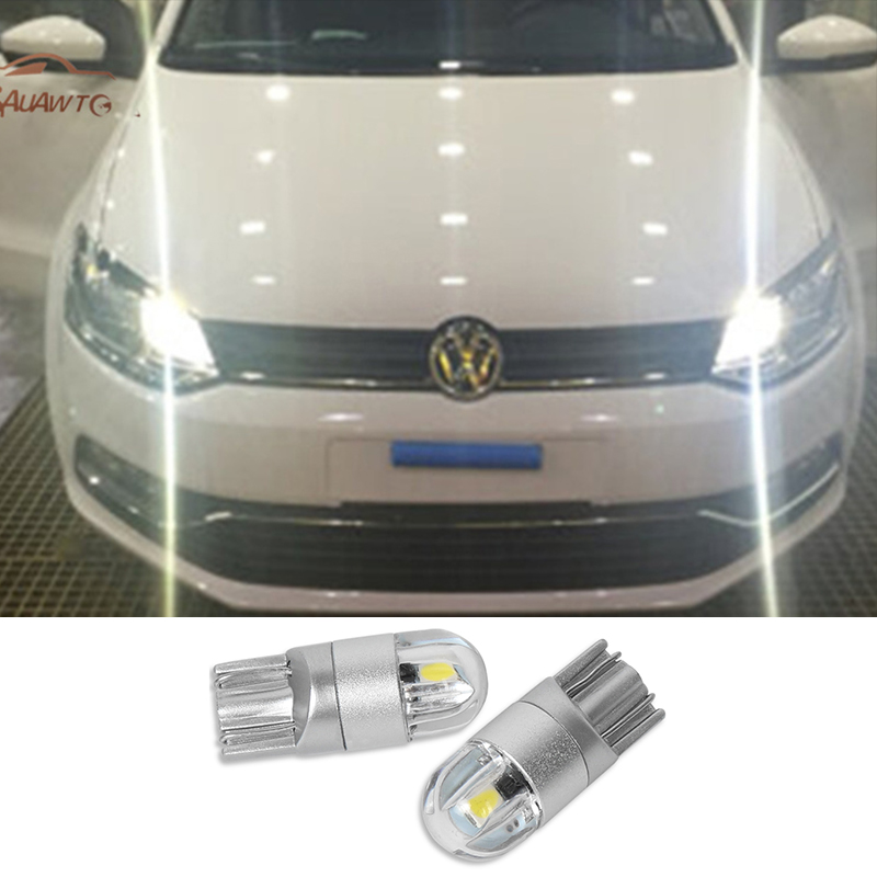 2x T10 3030 SMD LED W5W Parking Lamp Clearance <font><b>Light</b></font> For <font><b>VW</b></font> Volkswagen <font><b>Golf</b></font> 5 <font><b>6</b></font> 7 Passat B6 B7 CC MK5 MK6 MK7 Tiguan Accessories image