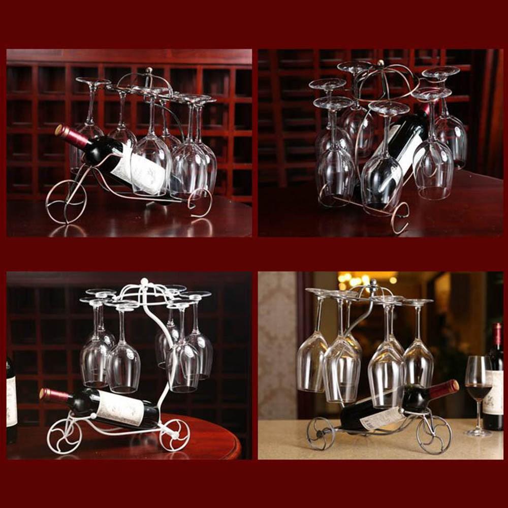 Decorative Racks Wine Bottle Holder Hanging Upside Down Cup Goblets Display Rack Iron Wine Stand Arts Design KC1283 (9)