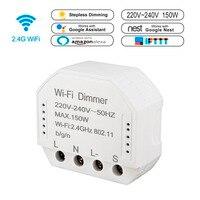 Wifi Smart диммер 220 V-240 V 150 W Управление; таймер выключения света голос Управление работает с Amazon Alexa Google IFTTT приложение Smart жизни