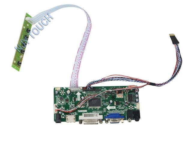 M. NT68676.2A HDMI DVI VGA Placa Controladora de ÁUDIO LCD Universal para 15.6 polegadas 1600x900 LTN156KT02 Monitor LED Kit fácil de DIY