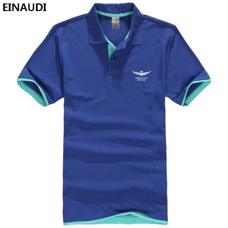 2017 Einaudi Sommer Neue Männer Militare Tops Boutique Gedruckt Baumwolle Polohemden Atmungs Man Air Force One Slim Fit Polos Fh & 5