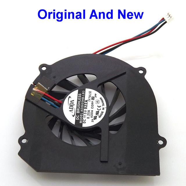 100% Original y nuevo CPU del ordenador portátil Notebook ventilador de refrigeración para Samsung R50 R55 By ADDA AD0605HB-LB3 Y70L5 5 V a conector de 3 hilos