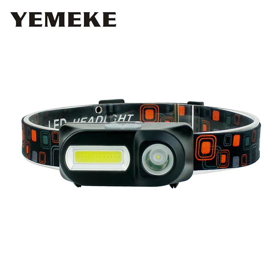 Led Headlamp USB Rechargeable XPE+COB Led Torch Head Flashlight On Forehead Headlamp 18650 For Camping Working Climbing