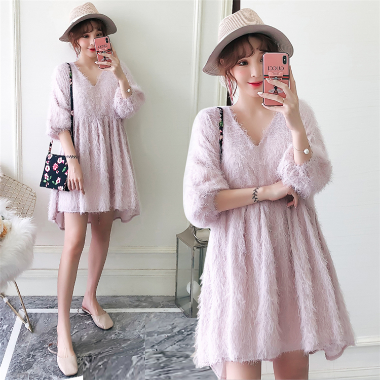 2018 autumn Winter new big size women s fat mm foreign gas cover belly hidden meat