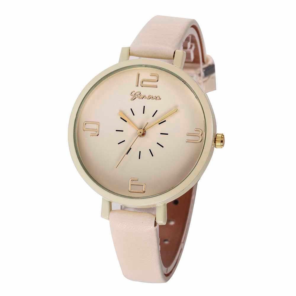Saatler kadınlar saatler kadınlar lüks marka Casual dama suni deri kuvars Analog kol saati kız izle haysiyet J.23