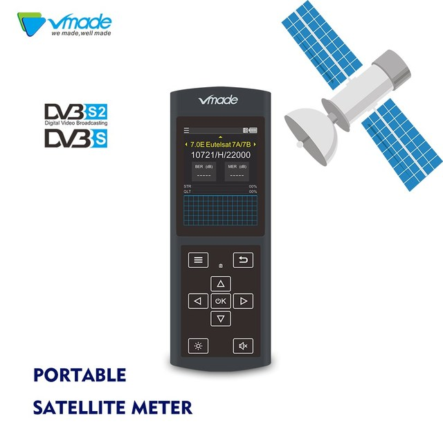 Vmade 3 0 Screen DVB S2 / S Full HD FTA Band Sat Satellite Finder DZ6370  Detector Support Software upgrade MPEG4/2
