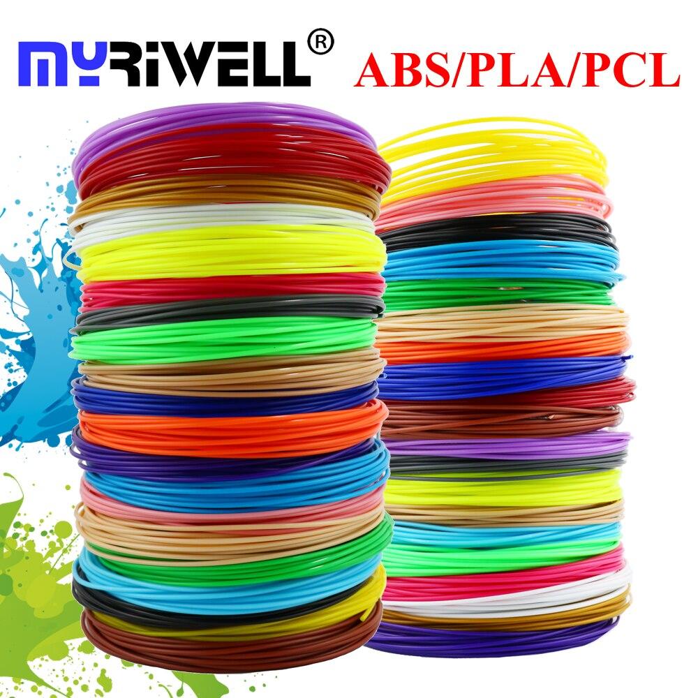 Myriwell 3d caneta impressão 1.75mm abs pla filamento pcl ambiental presente de aniversário para crianças brinquedos 3d caneta impressora 3d plástico de segurança