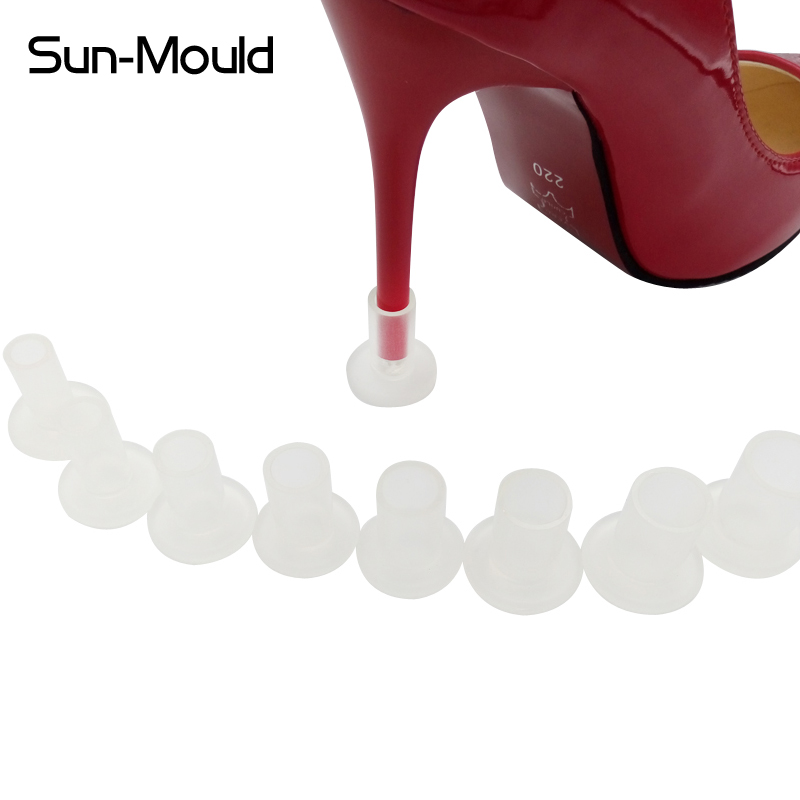 8 different size Easy Use shoes high stiletto heel protectors wedding gift heel tips replacement protector 50pairs free dropping