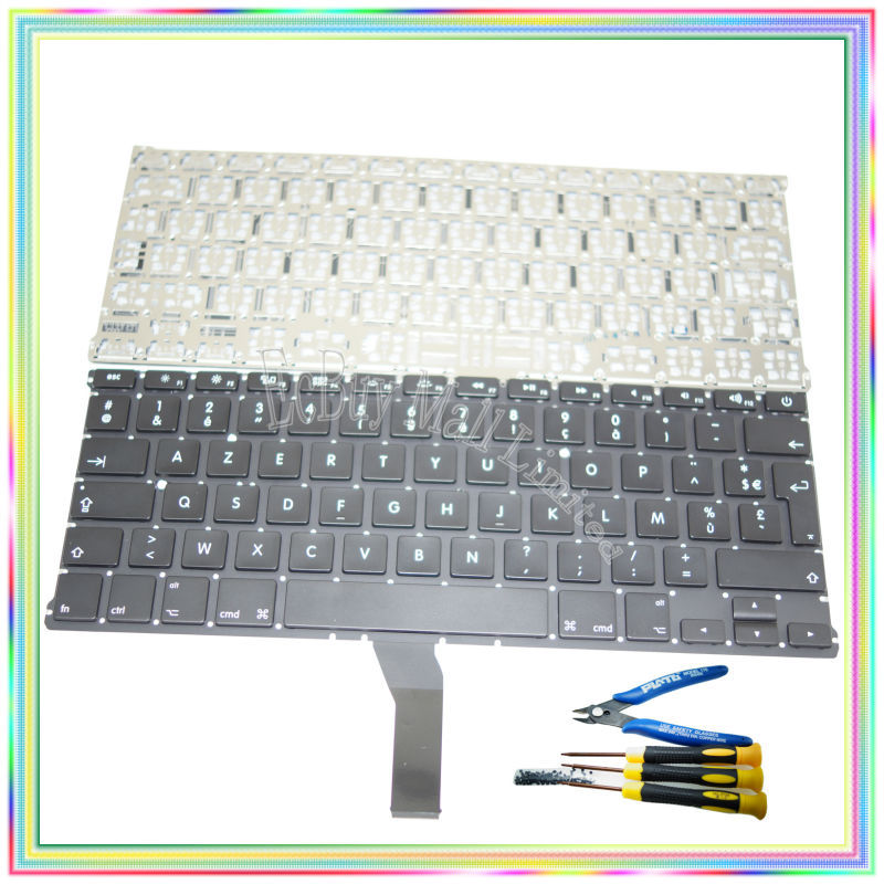 Brand new AZERTY FR French France Keyboard without Backlight & keyboard screws screwdriver tools for Macbook Air A1369 A1466