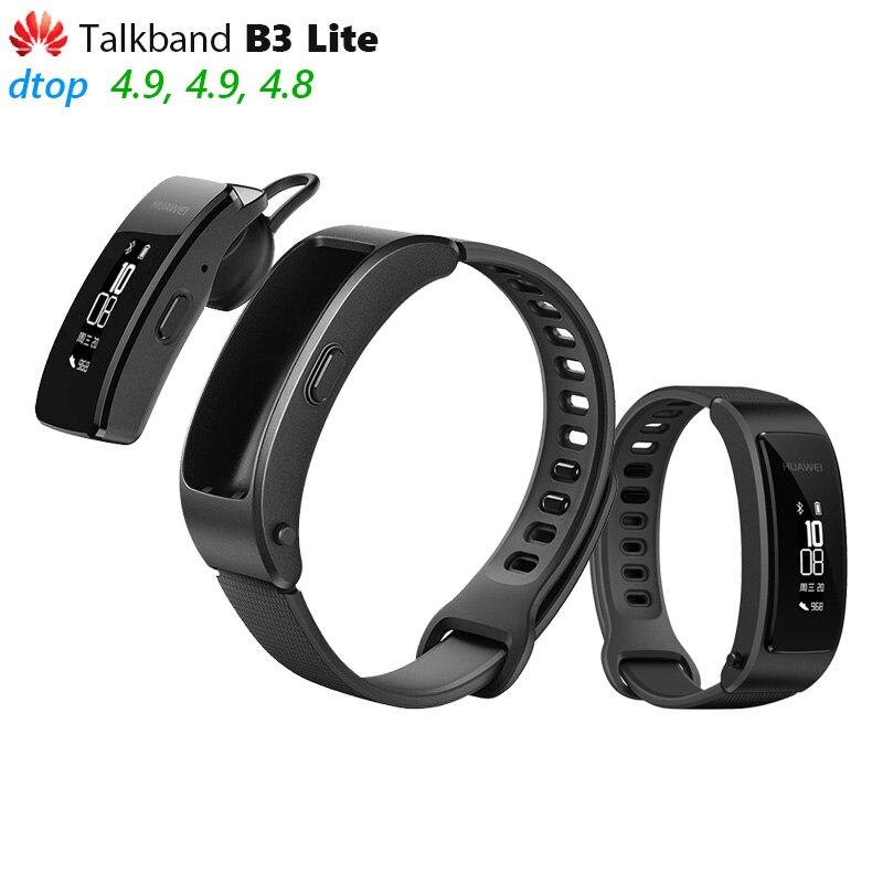 Originele Huawei Talkband B3 Lite Smart Polsband Bluetooth headset Beantwoorden/Beëindigen Run Lopen Slaap Auto Track Alarm Bericht-in Slimme polsbandjes van Consumentenelektronica op  Groep 1