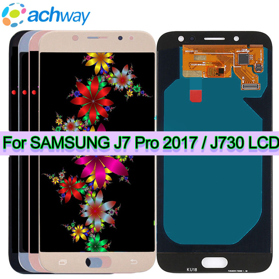 Pour SAMSUNG GALAXY J730 LCD J7 Pro 2017 affichage J730F SM-J730F écran tactile numériseur assemblée remplacement pour SAMSUNG J730 LCD